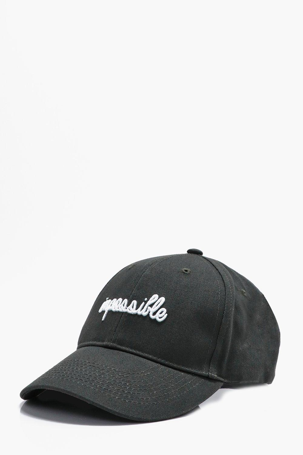 Embroidered Cap - charcoal - Impossible Embroidere