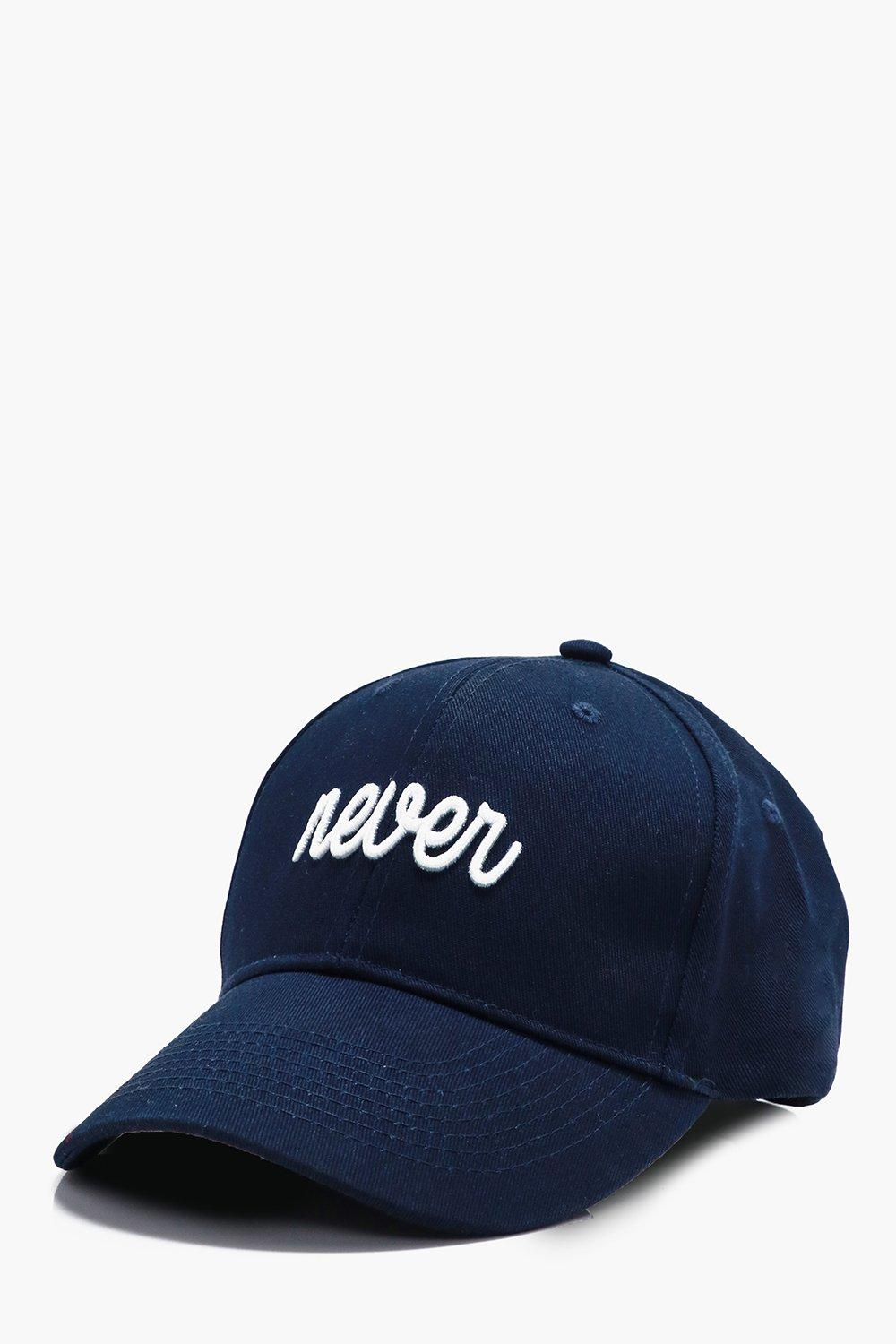 Embroidered Cap - navy - Never Embroidered Cap - n