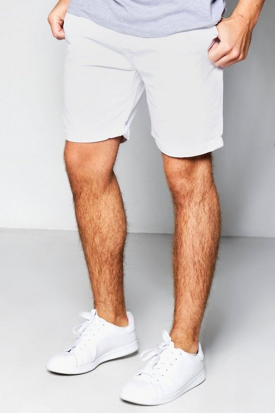 White Plain Chino Shorts