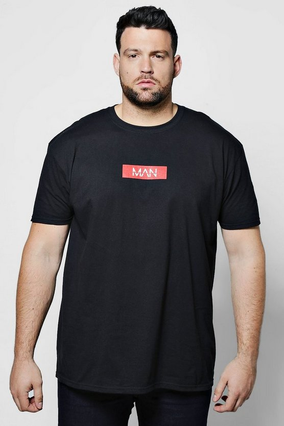 Big And Tall MAN Red Box Chest Print T-Shirt