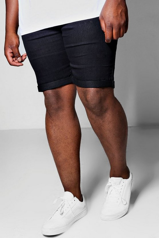 Big And Tall Basic Skinny Fit Denim Shorts