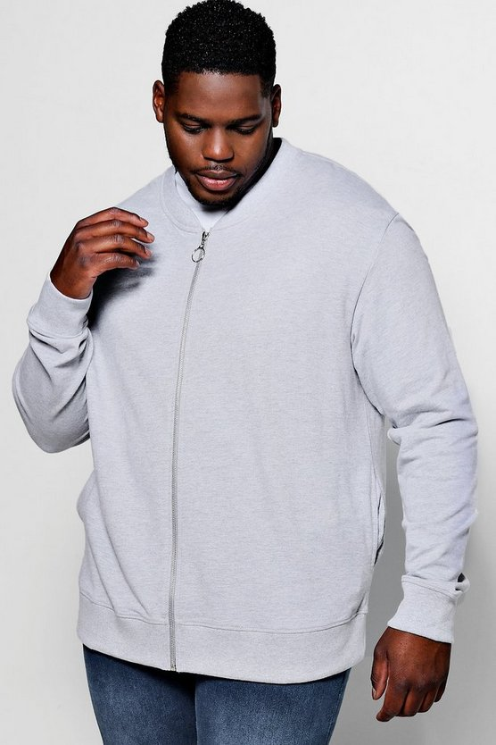 Big And Tall Slim Fit Jersey Bomber