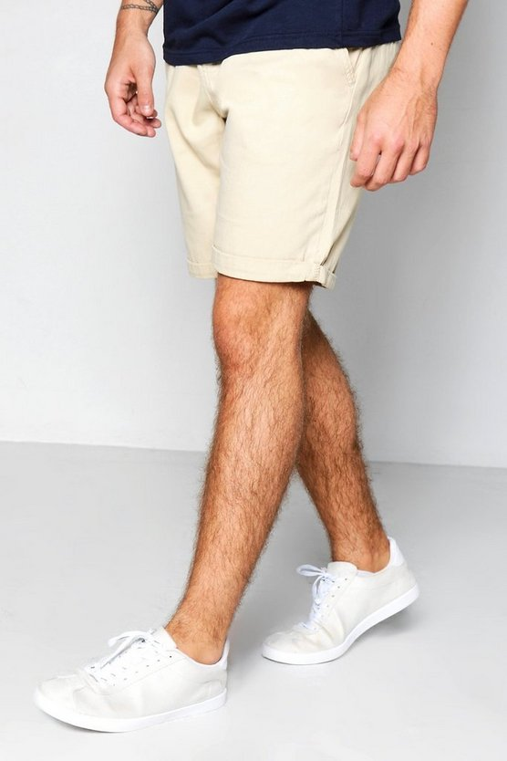 Stone Plain Chino Shorts