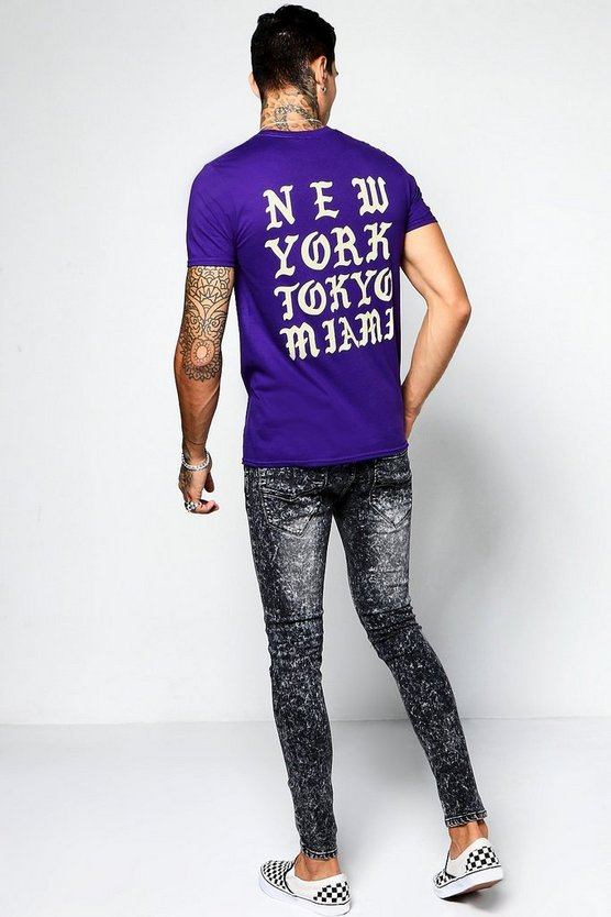 City Back Print T-Shirt