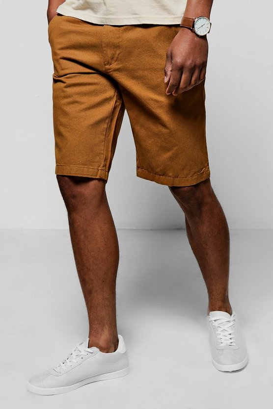 Tabacco Slim Fit Chino Short