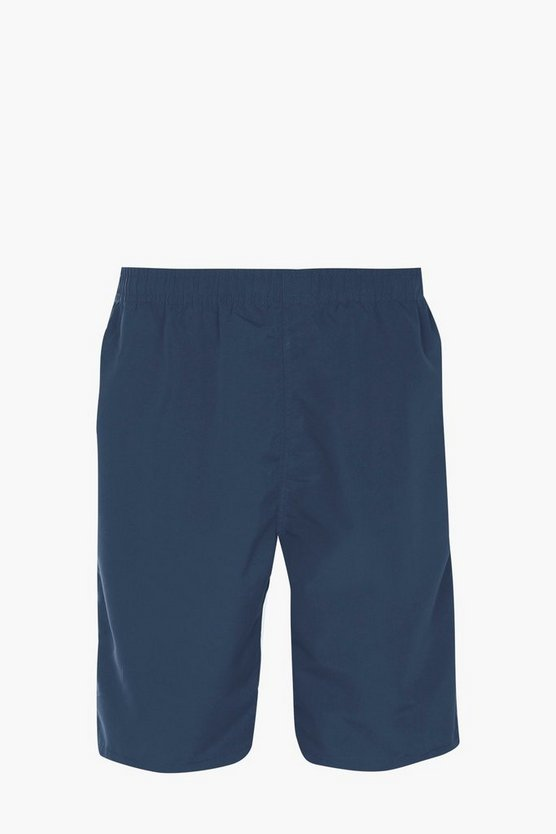Plain Mid Length Swim Short