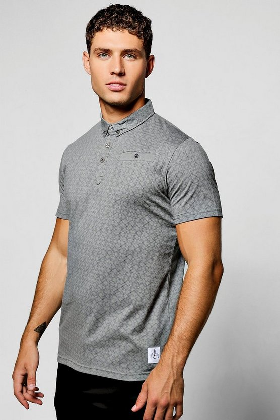 Short Sleeve Printed Polo