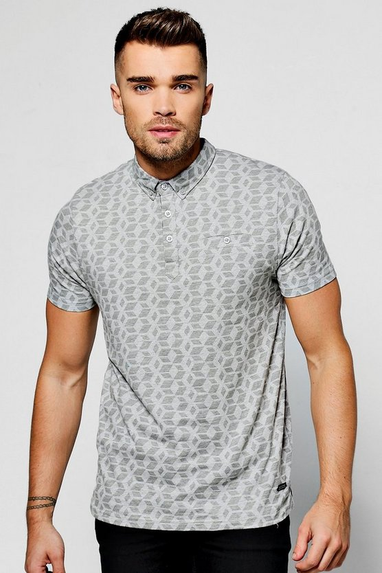 All Over Print Polo T-Shirt