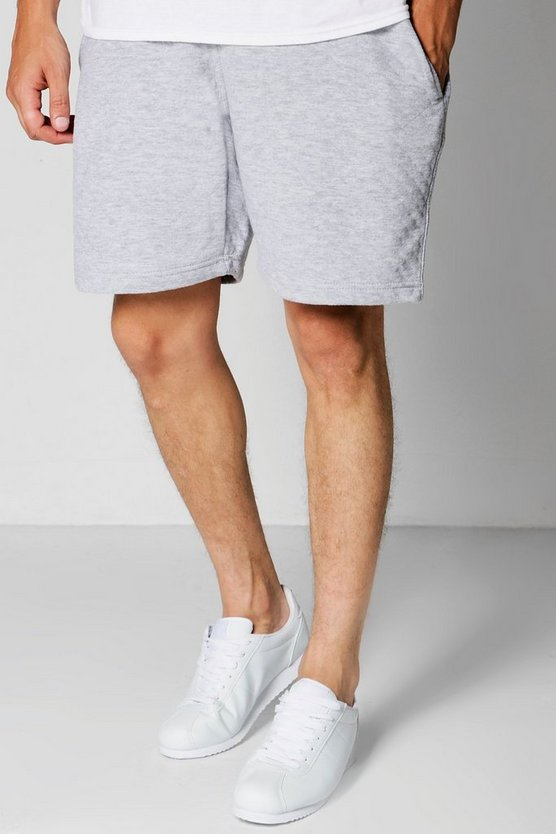 Short Jersey Shorts With Contrast Waist Band