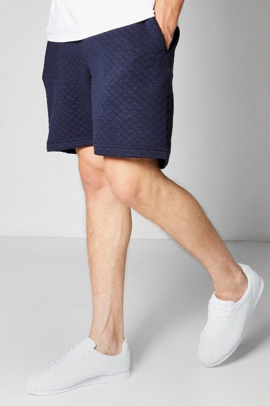 Mid Length Jersey Shorts With Contrast Waist Band