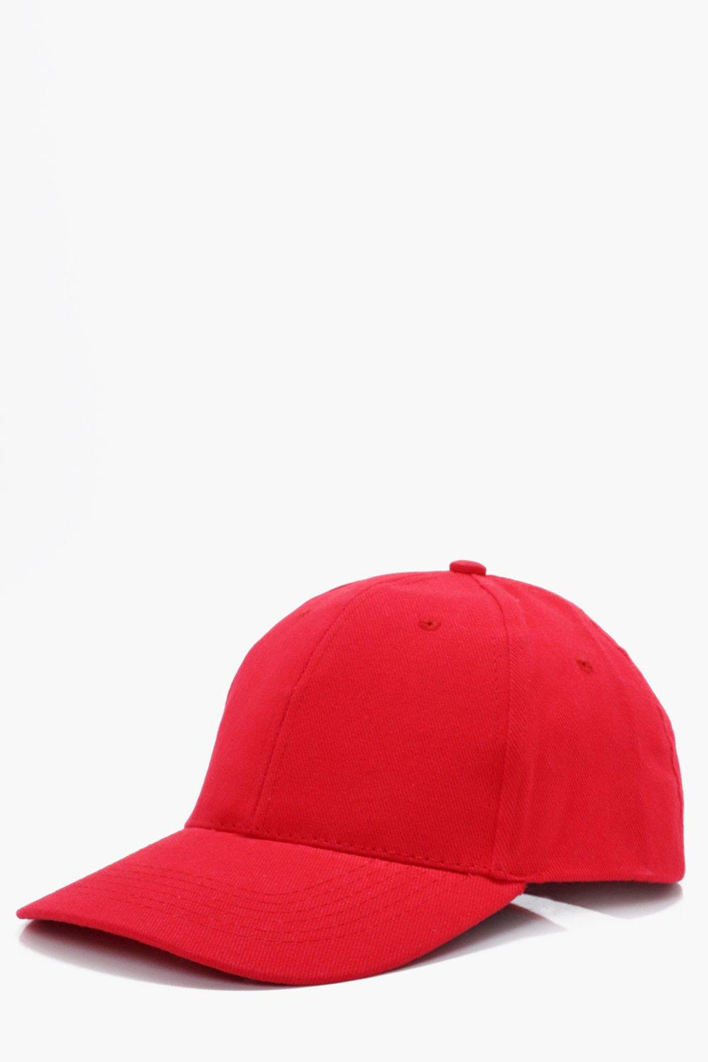 Cap - red - Basic Cap - red