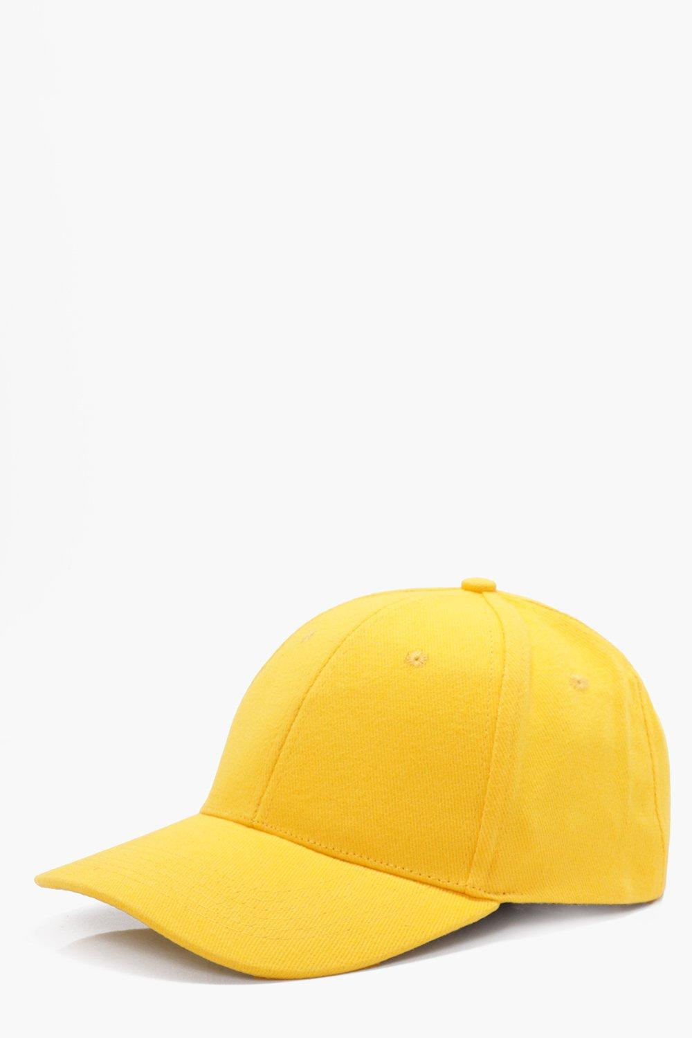 Cap - yellow - Basic Cap - yellow