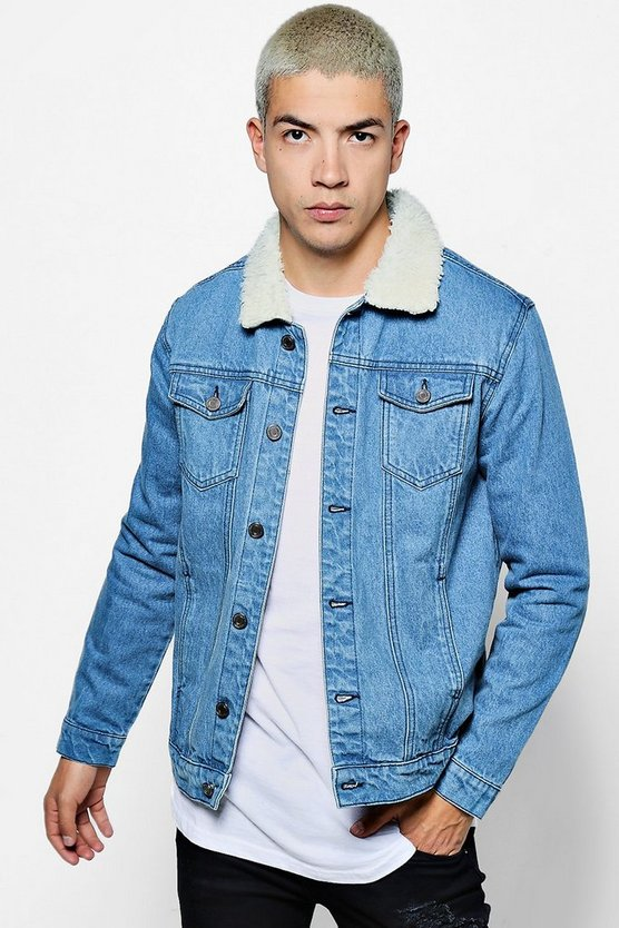 Blue Regular Fit Denim Jacket