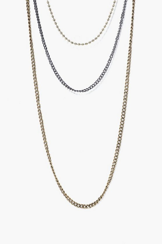 Multi Layer Chain Link Necklace