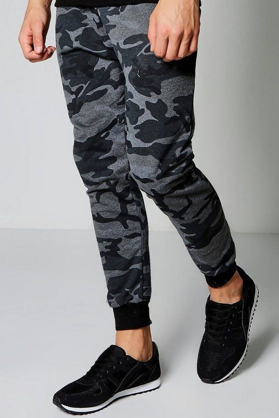 Drop Crotch Camo Slim Fit Joggers