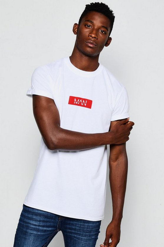 Man T-Shirt With Roll Sleeves