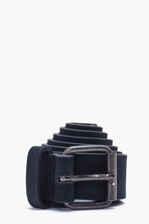 PU Belt - black - Distressed PU Belt - black