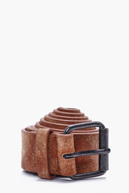 PU Belt - brown - Distressed PU Belt - brown