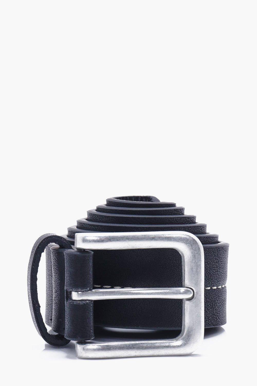 Stitch PU Belt - black - Stud Stitch PU Belt - bla