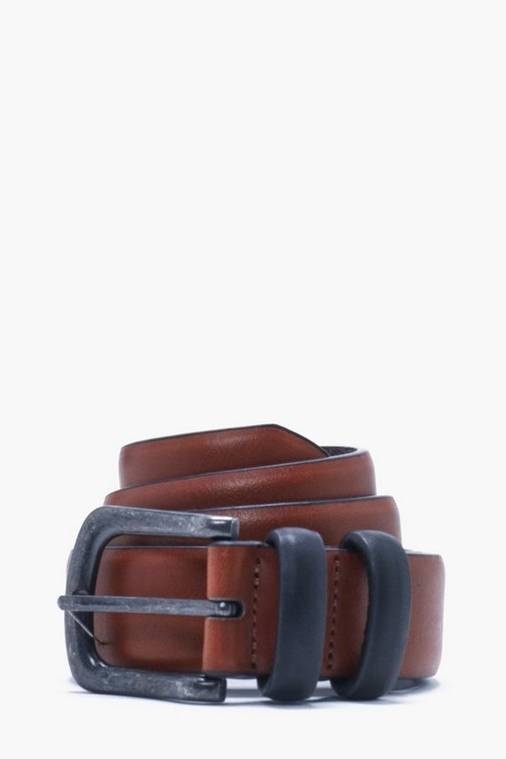 Contrast Keeper PU Belt