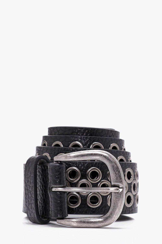 Over Eyelet Belt - black - All Over Eyelet Belt -