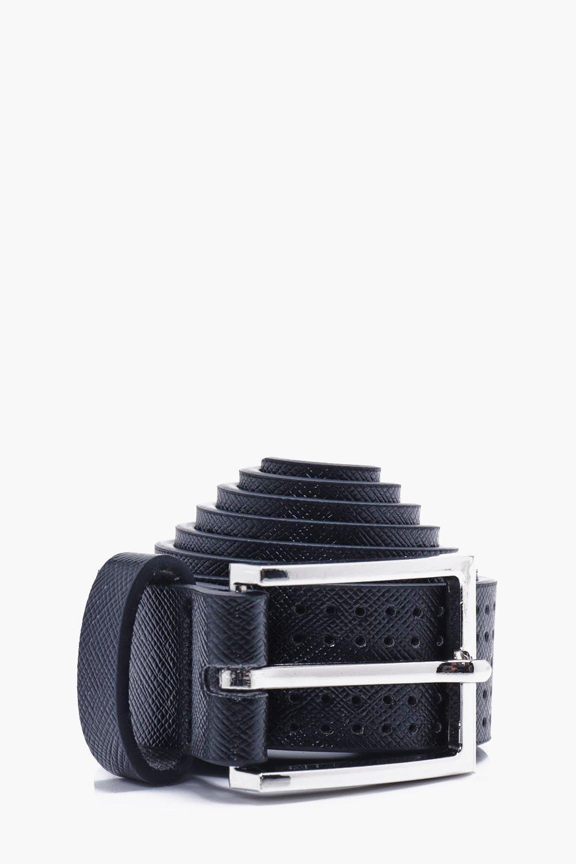 PU Belt - black - Perforated PU Belt - black