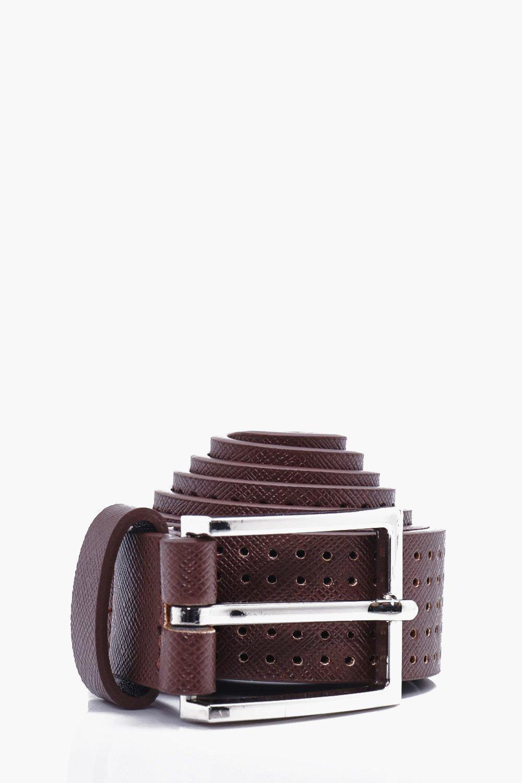 PU Belt - brown - Perforated PU Belt - brown
