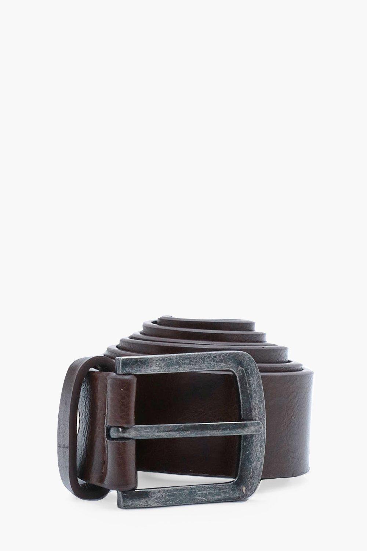 PU Belt - brown - Textured PU Belt - brown