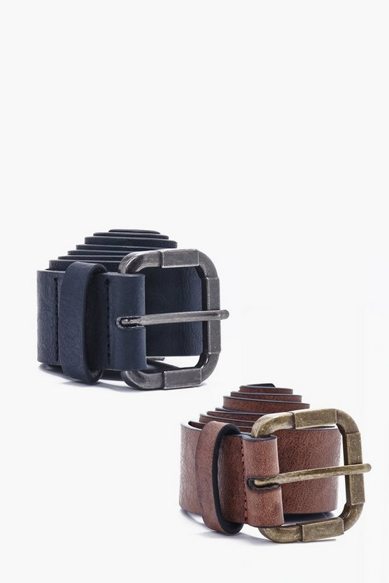Twin Pack Vintage Buckle Belt