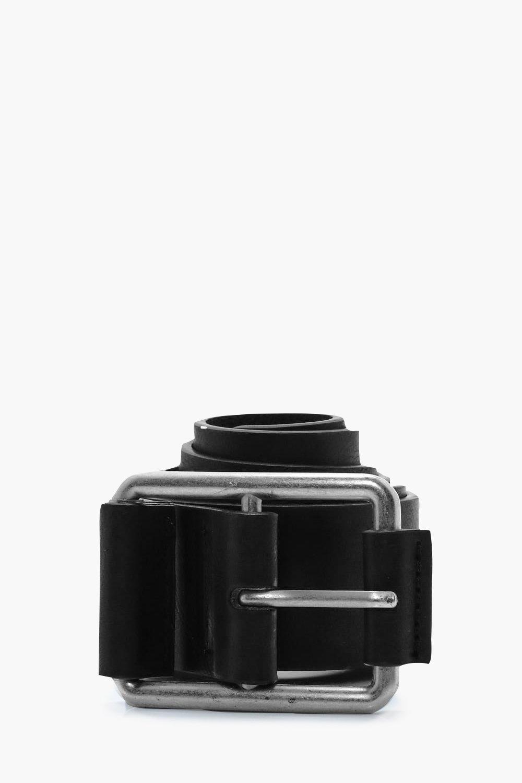Detail PU Belt - black - Buckle Detail PU Belt - b