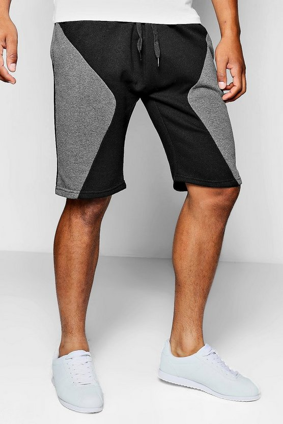Spliced Jersey Shorts In Basketball Fit