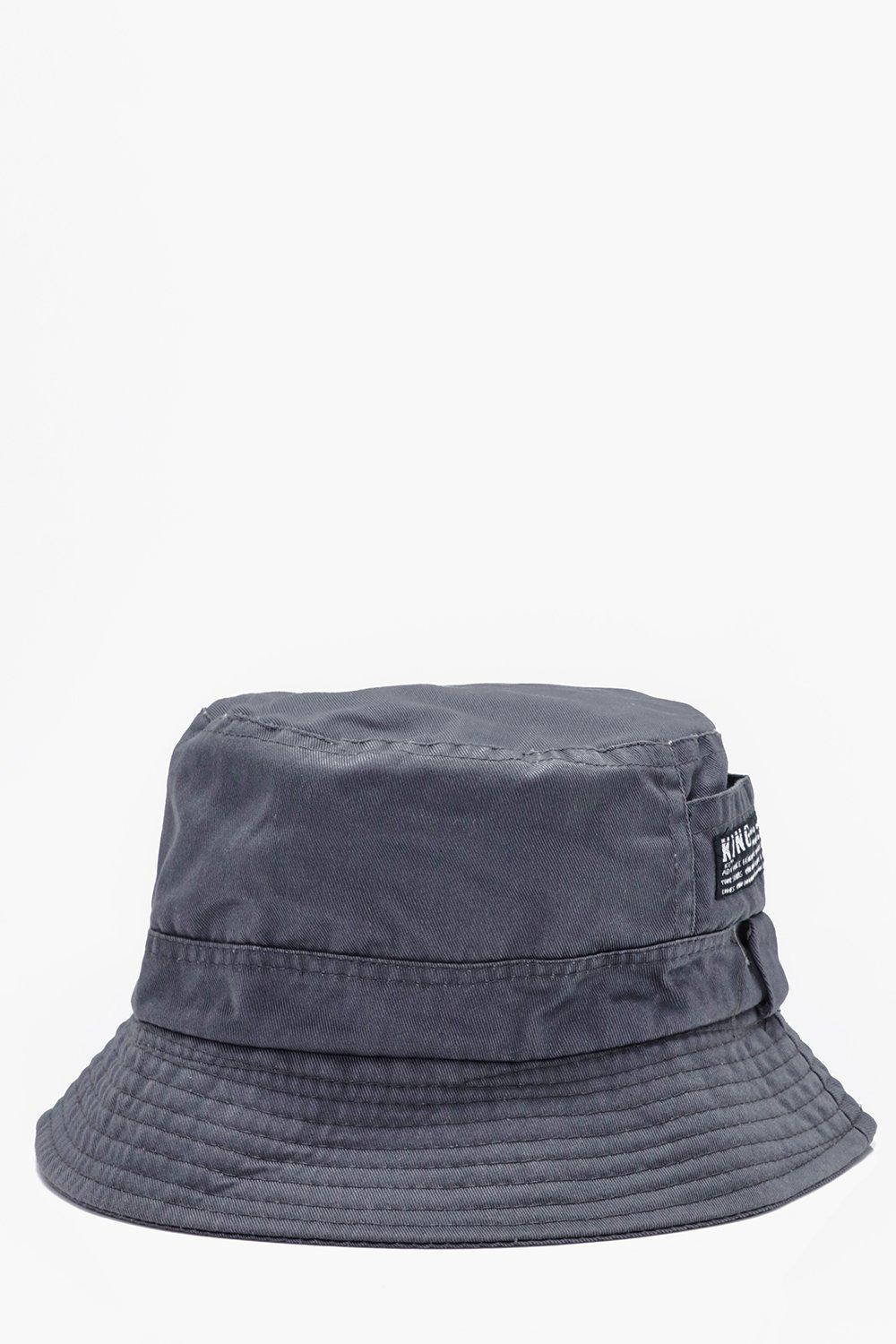 Bucket Hats - grey - Plain Bucket Hats - grey