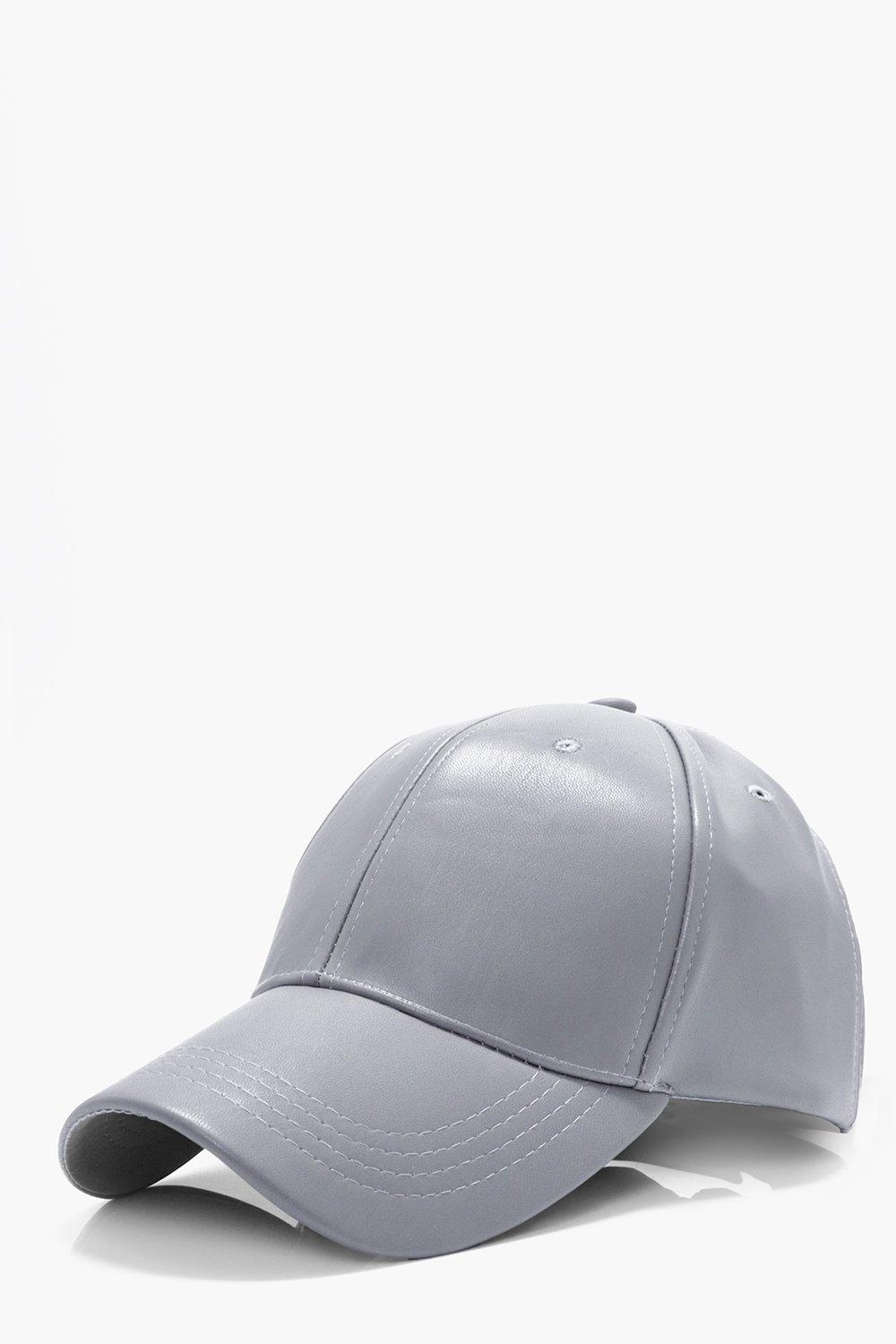 PU Cap - grey - Plain PU Cap - grey