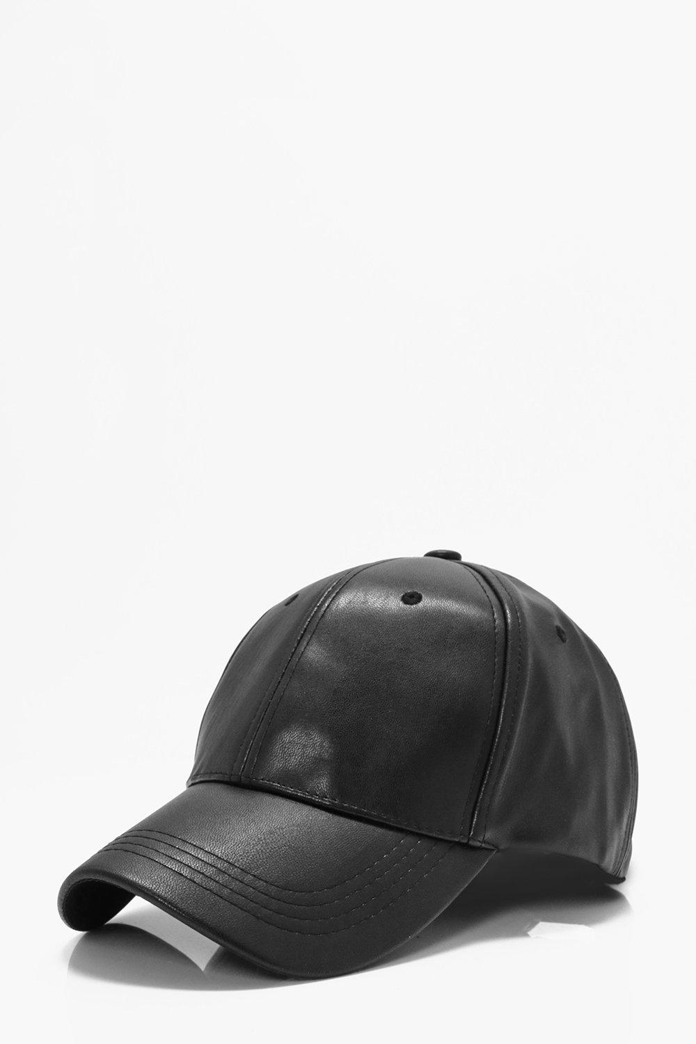 PU Cap - black - Plain PU Cap - black