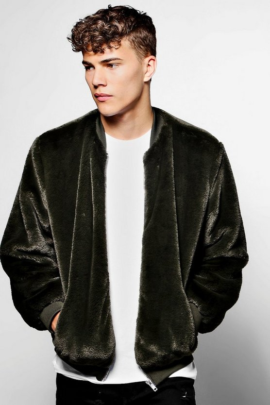 Luxe Faux Fur Bomber Jacket