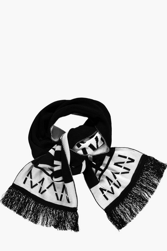 Black And White Oversize MAN Scarf