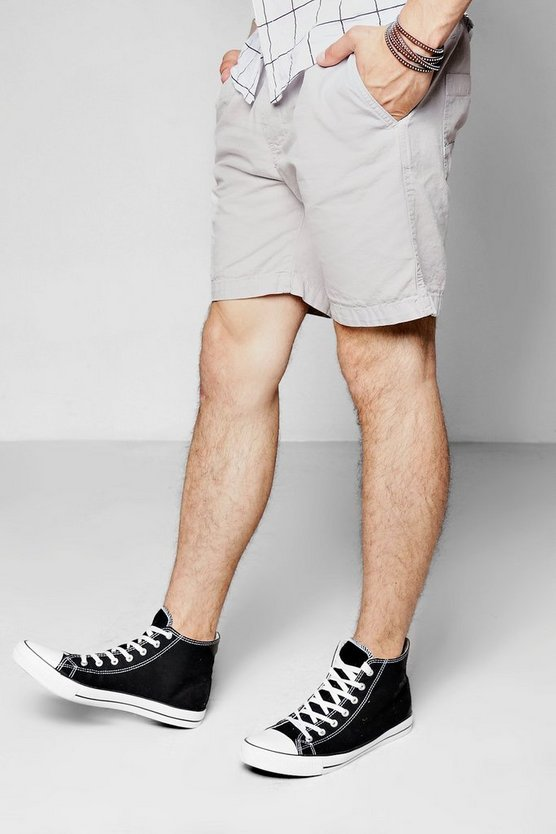 Washed Slim Fit Chino Short