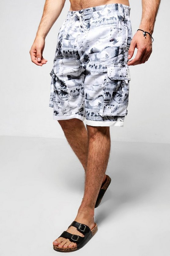Photographic Print Bermuda Shorts