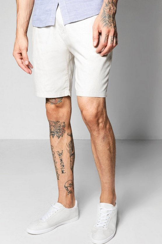 Smart Linen Mix Chino Shorts