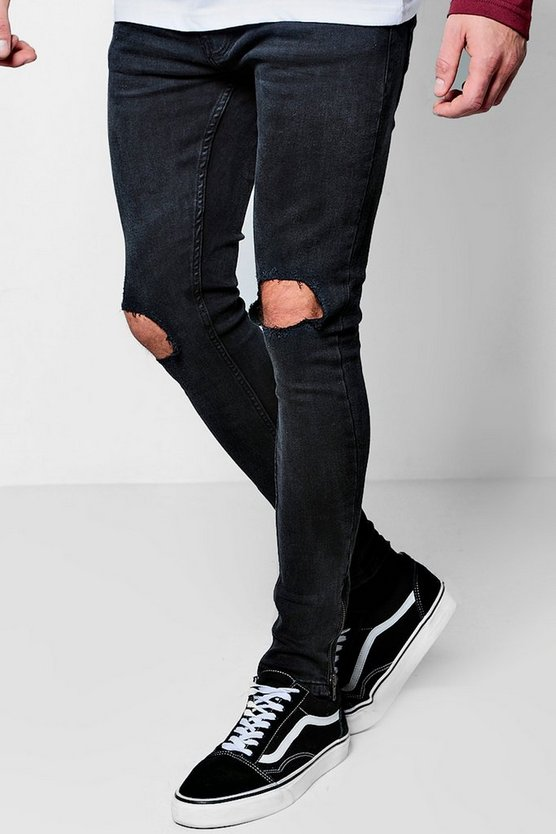 Charcoal Wash Skinny Fit Jeans