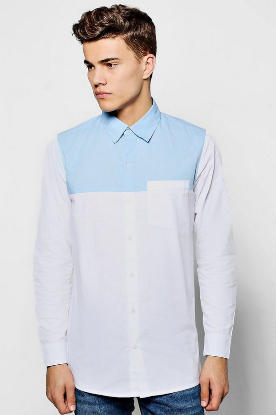 Long Sleeve Contrast Yoke Shirt