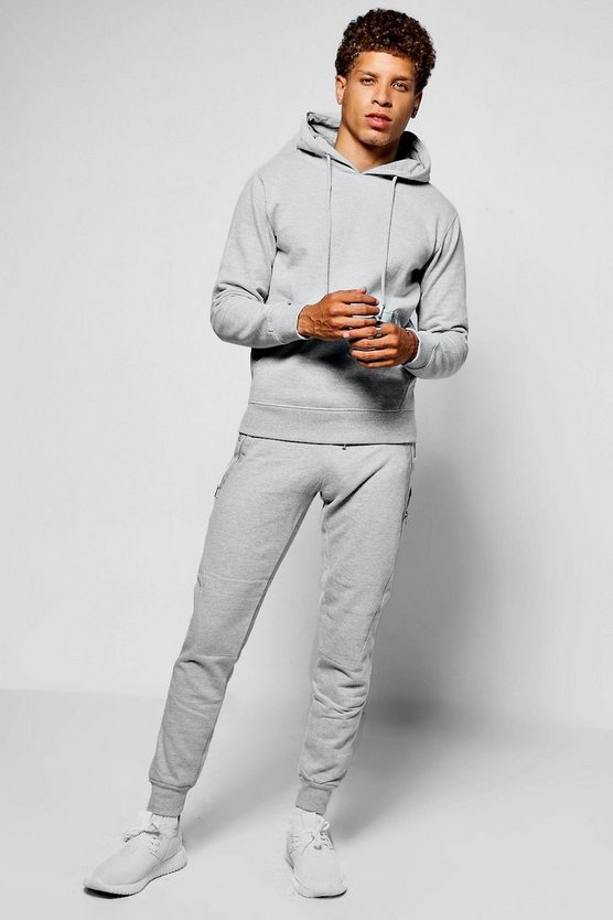 Skinny Fit Zip Pocket Tracksuit