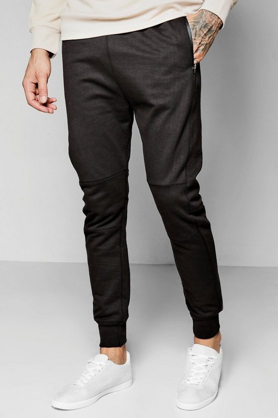 Skinny Fit Joggers With Sports Zip