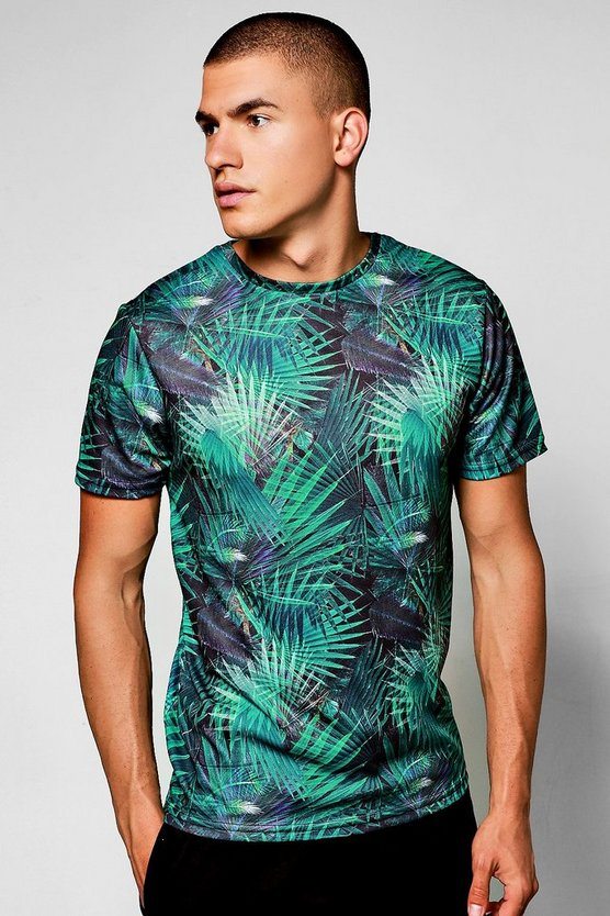 Palm Print Sublimation T-Shirt