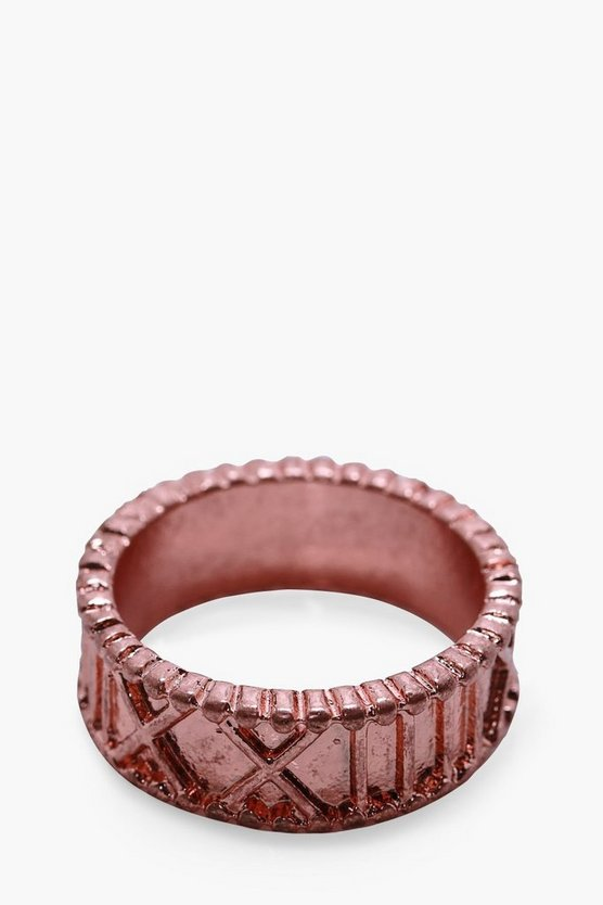 Copper Numeral Engraved Ring