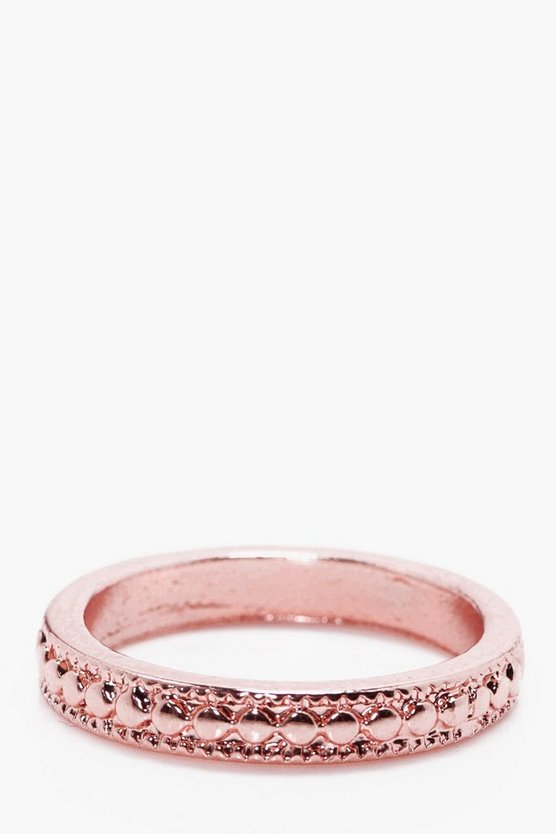 Skinny Textured Ring