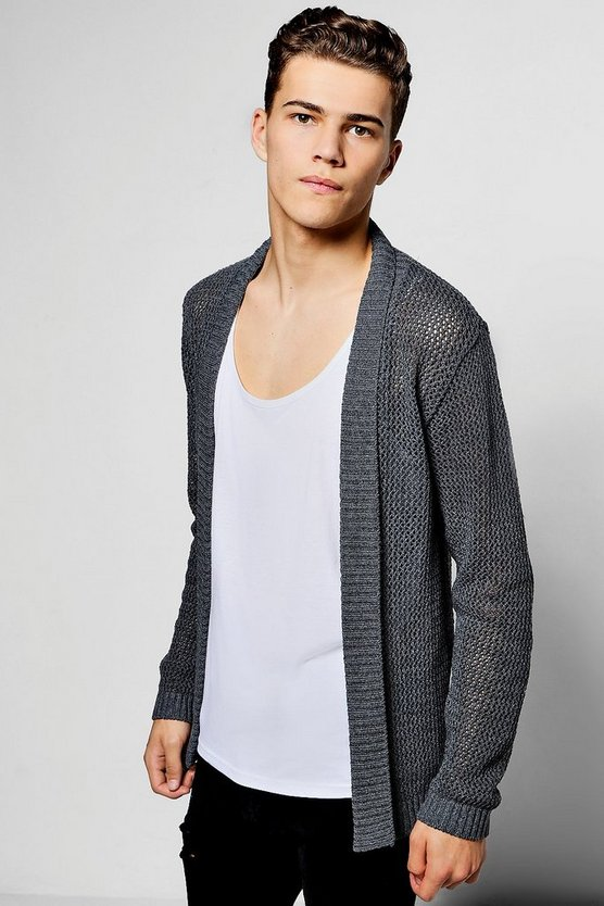 Open Stitch Edge To Edge Cardigan