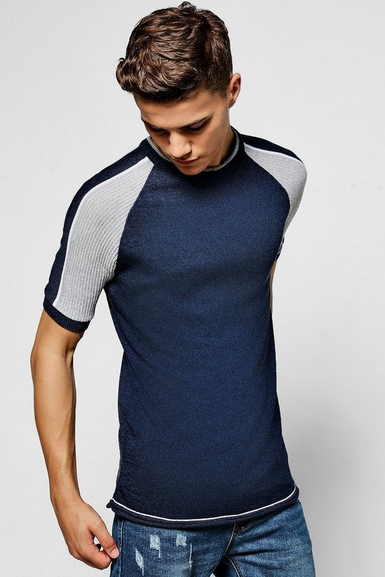 Contrast Short Sleeve Knitted Polo
