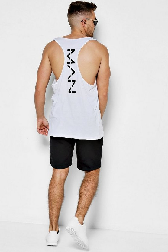 Racer Back Vest With MAN Print