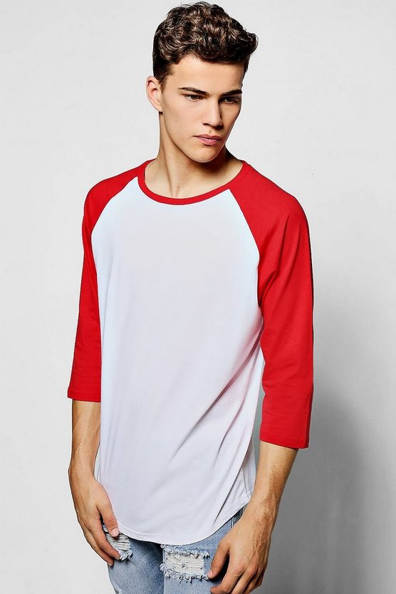 Raglan T-Shirt With 3/4 Sleeves